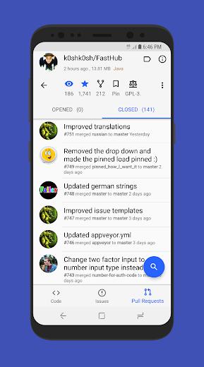 Screenshot 5 for Github's Android app'