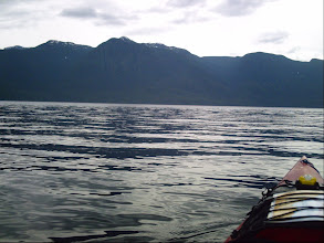 Photo: Crossing Johnstone Strait.
