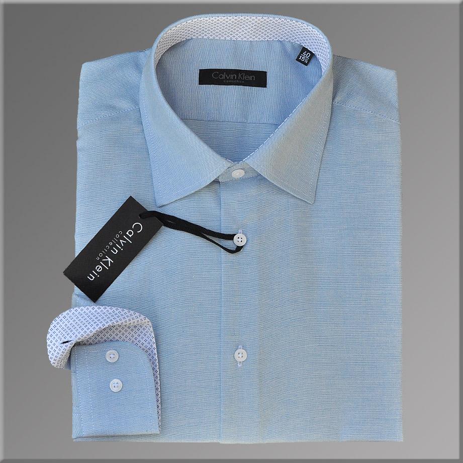 Camasa Barbati Calvin Klein Collection, model Slim Fit, Albastru Deschis