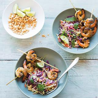 Vietnamese Slaw with Lemongrass Shrimp and Peanuts
