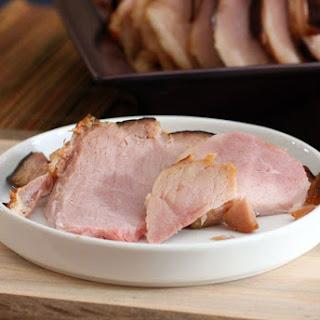 Baked Ham With Brown Sugar Mustard Glaze.