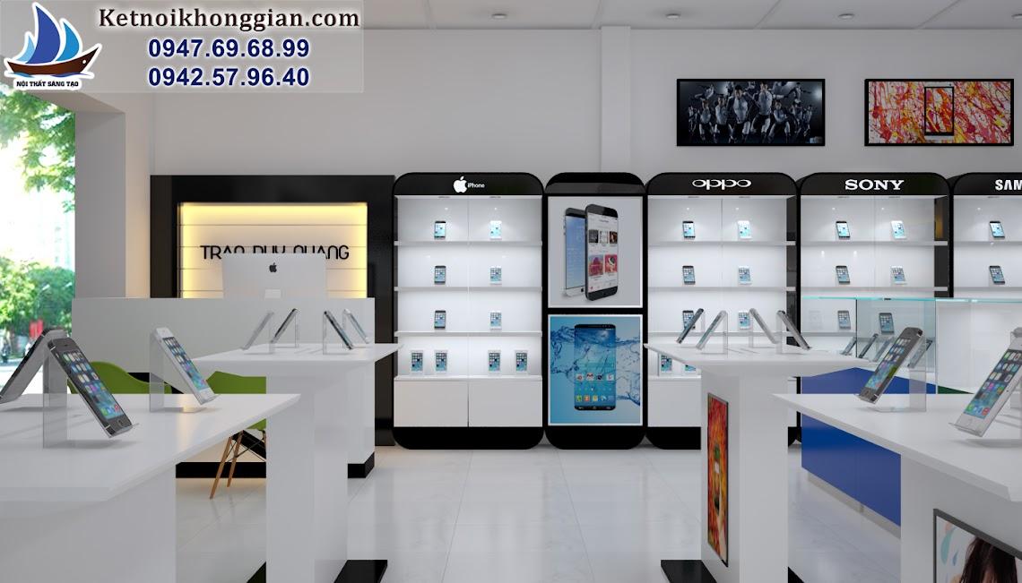thiết kế cửa hàng điện thoại tinh tế
