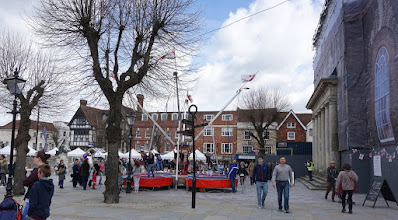 Photo: MARKET SQUARE SALISBURY GETTING READY .. IGNORE THE FLAPPY GUILDHALL FRONT