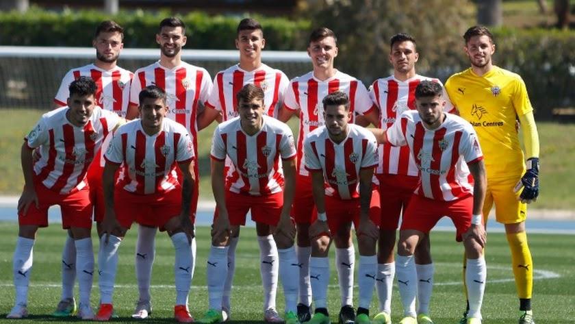 El once del Almería B.