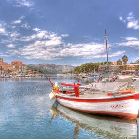 Morning in the port by Jaksa Kuzmicic - Landscapes Waterscapes ( port, old, grad, stari, hvar. hdr, city, island )