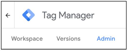 Google Tag Manager menu