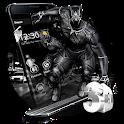 3D Black Hero Theme icon