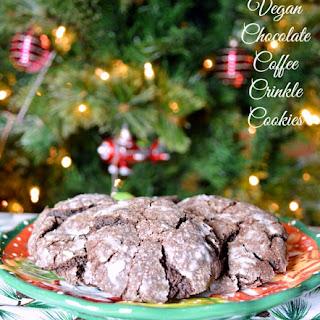 Vegan Chocolate Coffee Crinkle Cookies