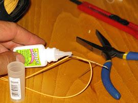 Залепване на скъсан шнур