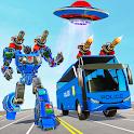 Bus Robot Car War - Robot Game icon