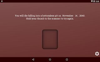 Screenshot of Death Scanner Prank