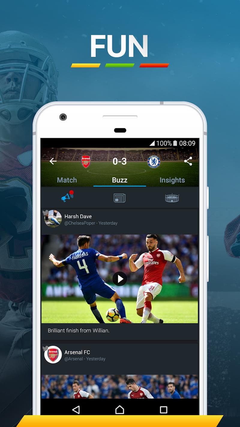365Scores - Live Sports Score, News & Highlights Screenshot 2