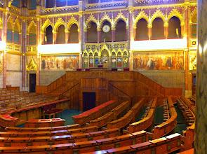 Photo: Jednací sál maďarského parlamentu.