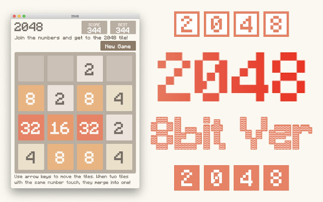 2048 Game - 8bit version