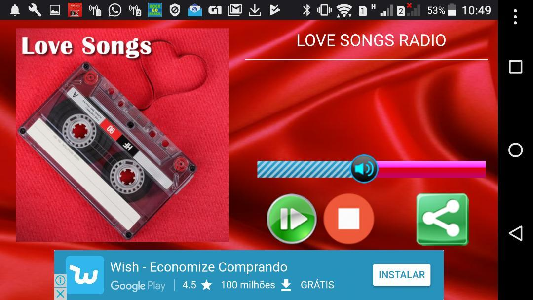 LOVE SONGS RADIO - THE LOVE IN IN THE AIR- screenshot