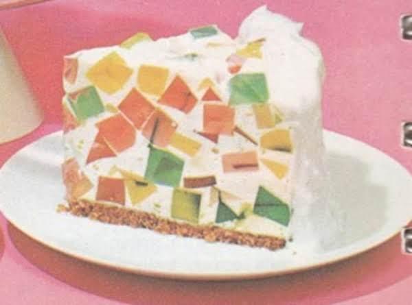 Broken Window Glass Cake