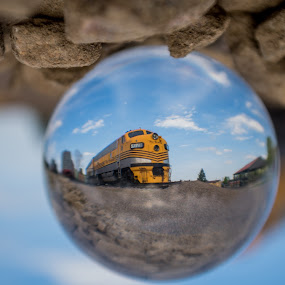 Rio Grande through the Looking Glass by Logan Knowles - Artistic Objects Glass ( ball, unique, train, museum, crystal )