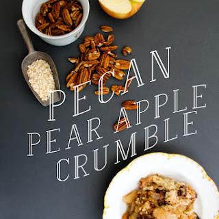 Pear Apple Pecan Crumble