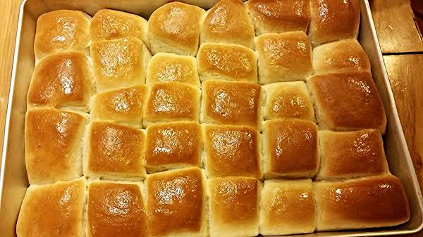 So Fluffy And Super Soft! Just One Of My Favorite Go To Breads! We Have These Yummy Rolls 2-3 Times A Week! Mom Of A Sports Kid So On The Go All The Time And Just Seem To Forget To Raise My Bread In Time! And My Hubby Is Spoiled To Homemade Breads!