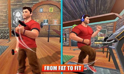 Fatboy Gym Workout: Fitness & Bodybuilding Games filehippodl screenshot 2