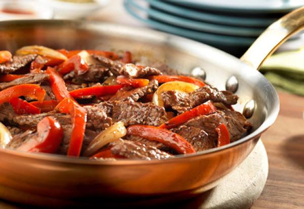 Pepper Steak With A Boost Recipe