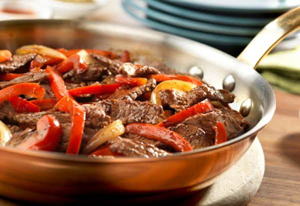 Pepper Steak With A Boost Recipe