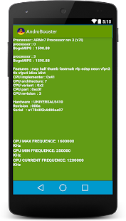 AndroBooster screenshot
