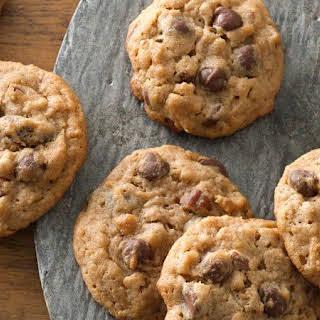 Peanut Butter-Pecan Chocolate Chip-Granola Cookies.