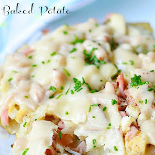 Chicken Cordon Bleu Baked Potato
