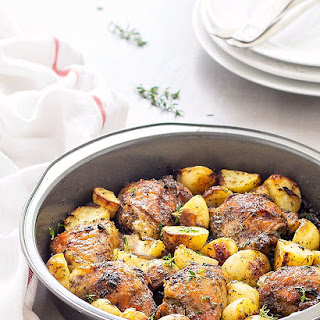One Pan Baked Chicken and Potatoes.