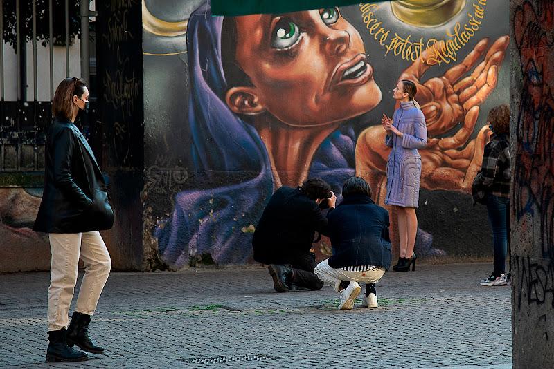Se il murales somiglia alla modella..... di a-mor