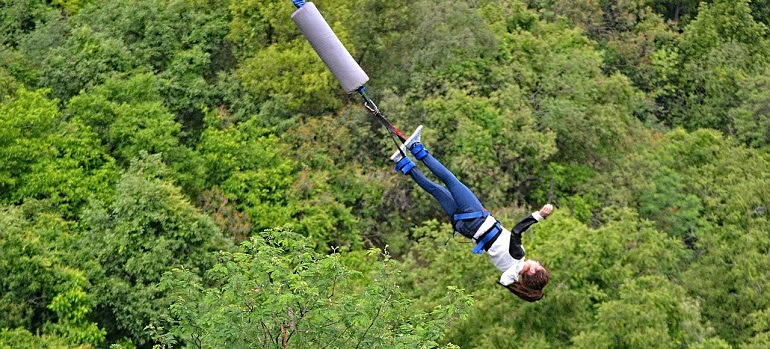 I've always wanted to jump from heights, so I went bungee jumping in Costa Rica. It was the single dumbest thing I've ever done.