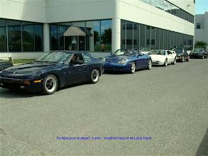 Photo: Jonathan 3ème dans la file avec les Porsche