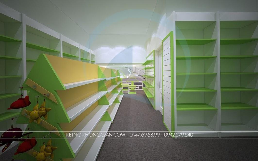 thiết kế nội thất nhà sách dễ thương