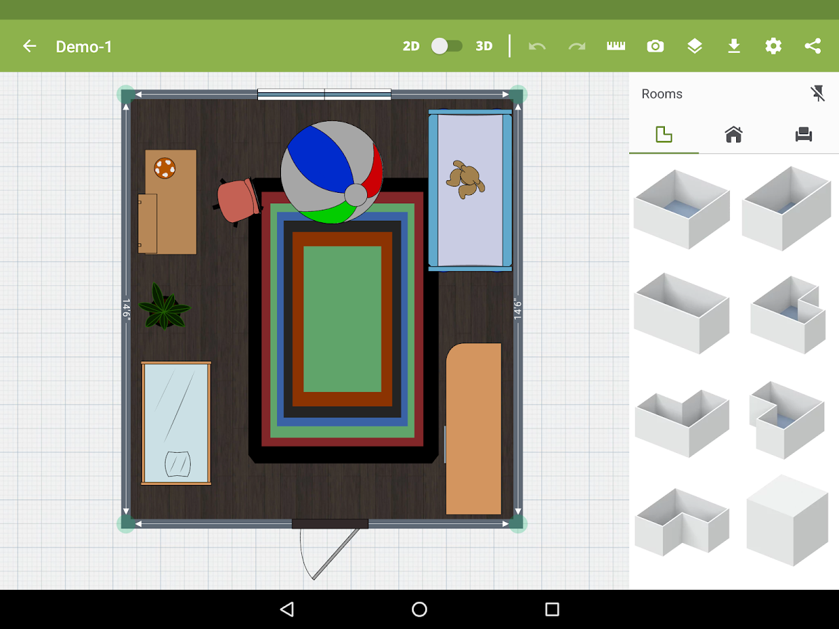Kids room design android apps on google play for Room design app