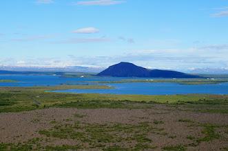 Photo: Widok na jezioro Mývatn - jezioro komarów??