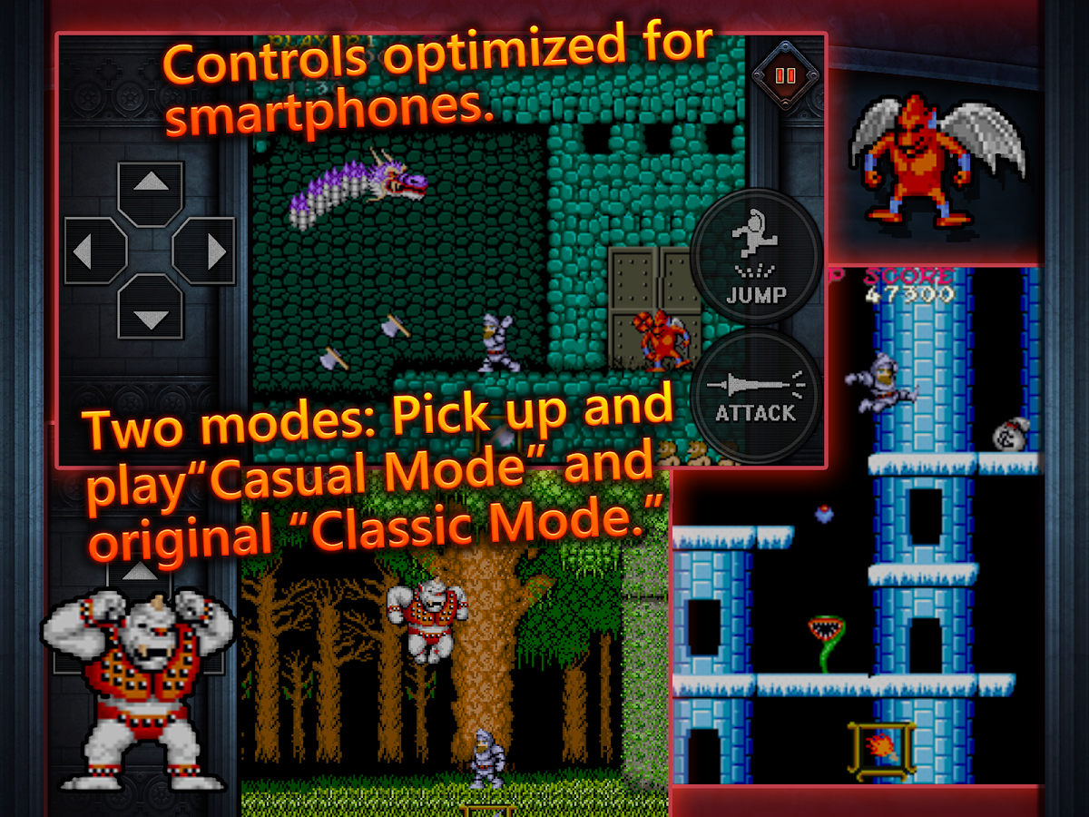 Ghosts'n Goblins MOBILE: captura de pantalla