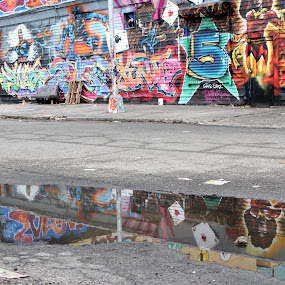 5 Pointz New York by Jesse Hebert - City,  Street & Park  Street Scenes ( reflection, cartoon, colorful, street, mural, artwork, drawing, character, colour, 5 pointz, colourful, x-men, graffiti, artist, water, xmen, art, beautiful, new york, wall mural, artists, art mural, marvel, queens, color, new york city, wall )