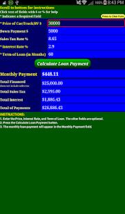 Car Loan Payment Calc Pro - screenshot thumbnail