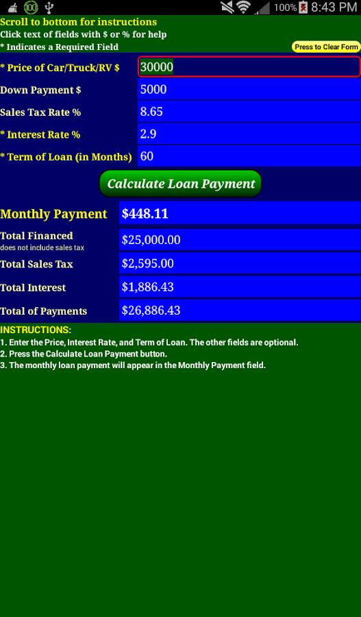Car Loan Payment Calc Pro - screenshot