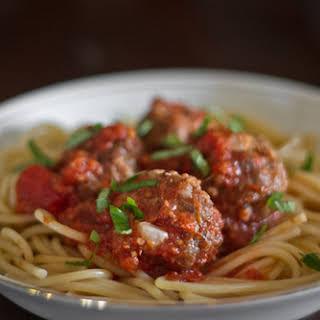 Spaghetti and Bulgur Meatballs.