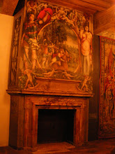 Photo: There are more elaborately painted fireplaces in the second floor apartments of the Duke and his wife.