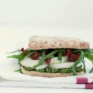 Mozzarella, Sun-Dried Tomato and Pesto Sandwich Recipe