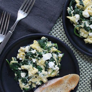 3-Ingredient Greek Omelet Scramble