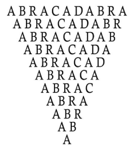 Filacteria Abracadabra