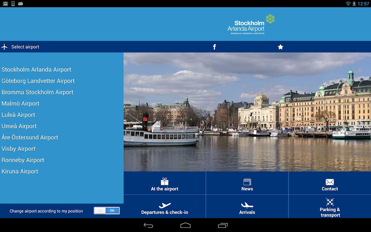 Swedavia Swedish Airports- screenshot