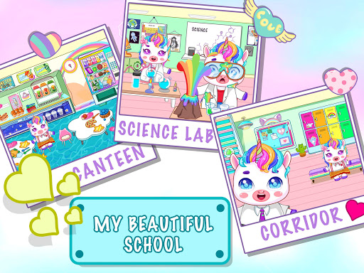 Mini Town: Unicorn School android2mod screenshots 3