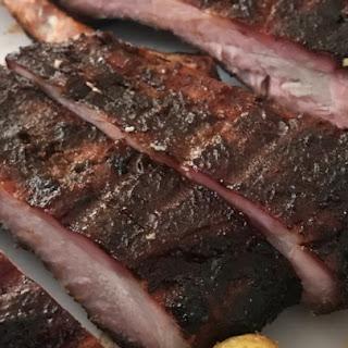 Sweet Smoked Pork Ribs.
