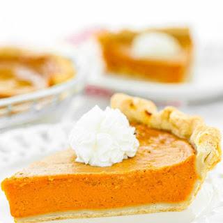 Easy Eggless Pumpkin Pie.