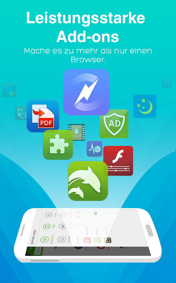 Dolphin Browser für Android 🐬 – Screenshot